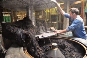 Half Wool Loaded into Drier