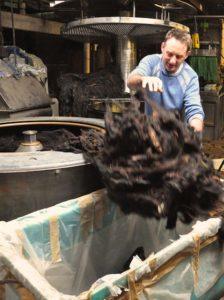 Unloading Dry Wool