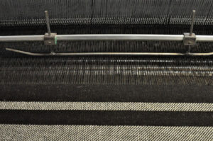 Zwartbles Blanket Being Woven