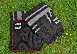 100% Real Wool, Zwartbles Ireland Blanket, Yarn & Travel Rug