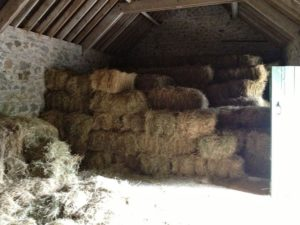 Hay Bale Stacked