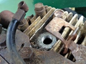 The Spark plug Hole Where 2 Drops of Petrol Go