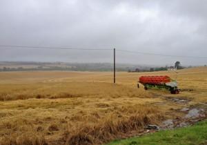 Harvesting Equipment Abandoned in the Rain
