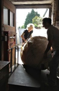 My Friend Rosamond Casey Helped Jim Load Sacks of Wool Onto the Scales