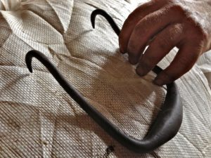 A Wool Sack Hook is Used to Hall the Bags Around