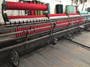 The Spinning Machine Loaded With Red Ready to Spin
