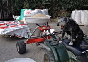 Pepper Bord of Waiting as I Load Fertilizer
