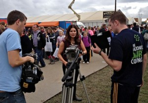 Filming at Ploughing