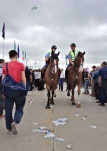 Crowds Part Only When Mounted Garda Síochána Rode By