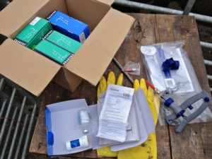 Box of Vaccine Boxes Toxovax & Enzovax