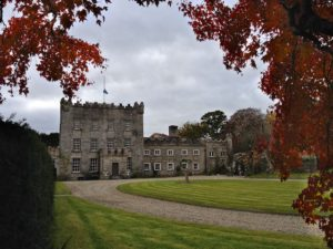 Huntington Castle flag flying at half mast due to the resent death of Olivia Robertson on 14/11/2013