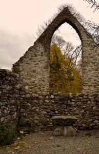 Huntington Castle Chapel open to the heavens