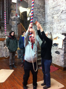 Me Ringing in the New Year of 2014 in the St Canice's Cathedral Bell Tower